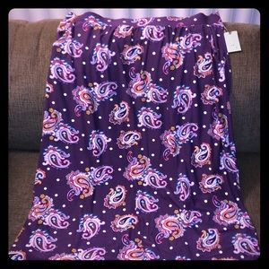Terra & Sky Relaxed Super Soft Maxi Skirt Size 2X